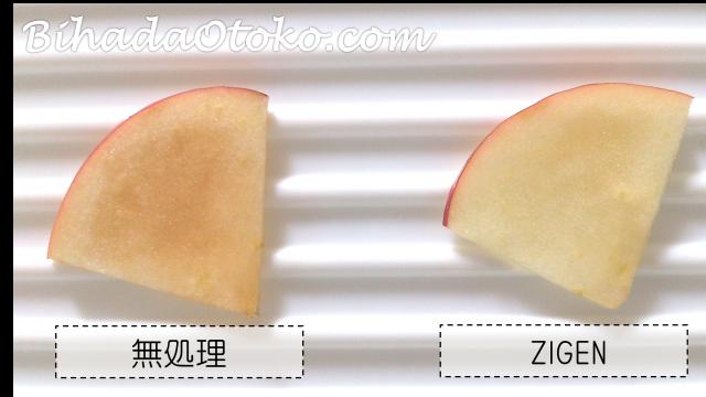 ZIGENリンゴの活性酸素1時間後