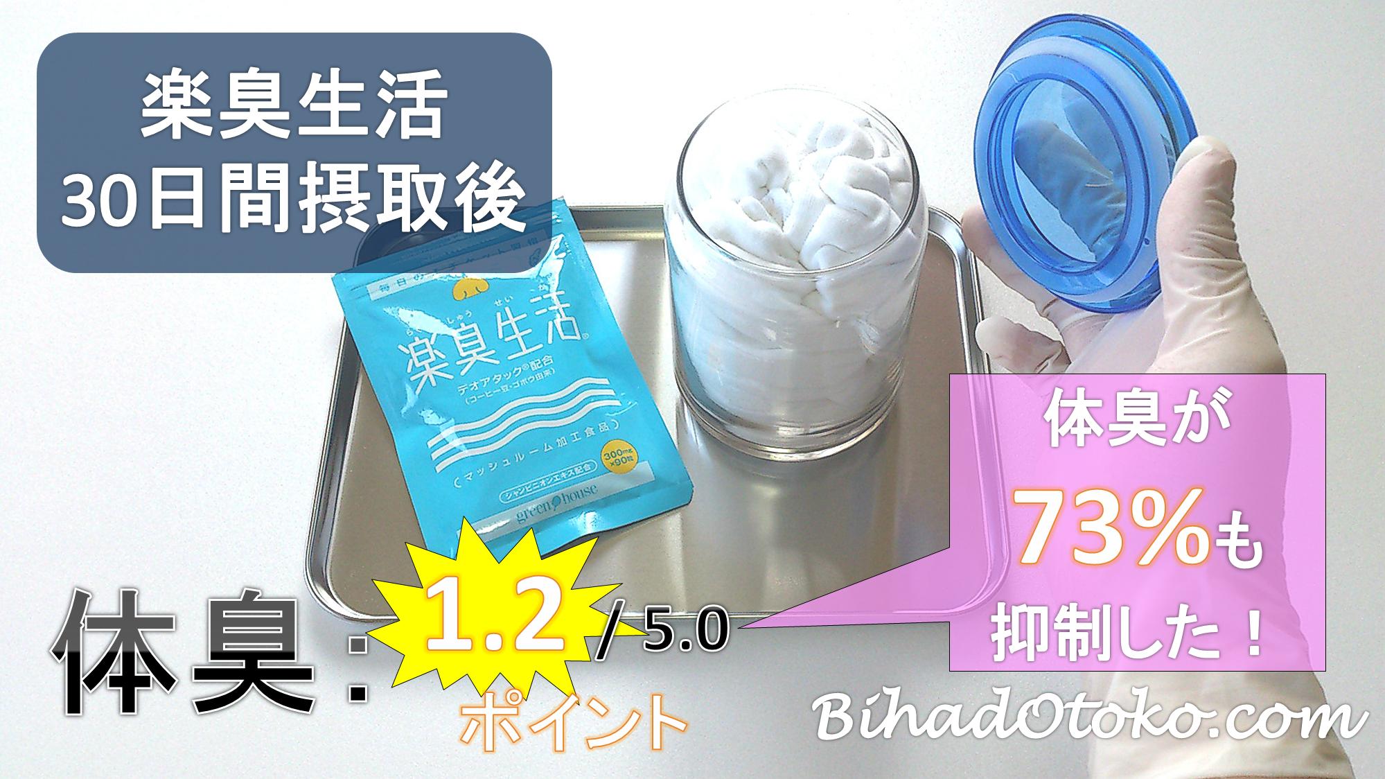 楽臭生活の口コミ評判・効果・最安値体臭サプリ専門家が実験検証!